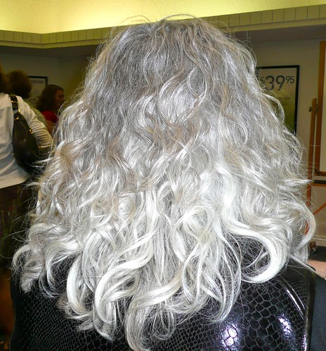 long gray hairstyle beachy waves