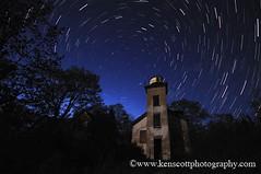 kascott_20090530_9464b (Ken Scott) Tags: usa lighthouse stars michigan lakemichigan greatlakes startrails leelanau startrail sfoxisland nearthe45thparallel kenscottphotography kenscottphotographycom
