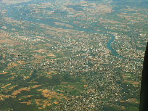 Above Saint-Louis, France; Weil am Rhein, Germany; and Basel, Switzerland