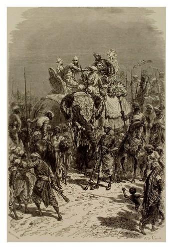 018- Entrada del Rahja en Kadschuraha india Central-La India en palabras e imágenes 1880-1881- © Universitätsbibliothek Heidelberg