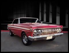 mercury comet (bindare2) Tags: red classic cars car photoshop 60s mercury american restored 1960s oldcar oldcars photoart automobiles topaz americancars coolcars carart autoglamma topazadjust