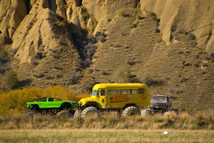New Zealand_274 (jjay69) Tags: schoolbus custom yellowbus monstertruck yellowtruck newzealandsouthisland offroadvehicle monsterbus unusualvehicles monstervehicle bigtyres