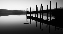 Derwent Water (Joe Dunckley) Tags: uk england bw water monochrome landscape lakes lakedistrict cumbria derwentwater pif 2for2 123bw twtme a1f1 lpyc