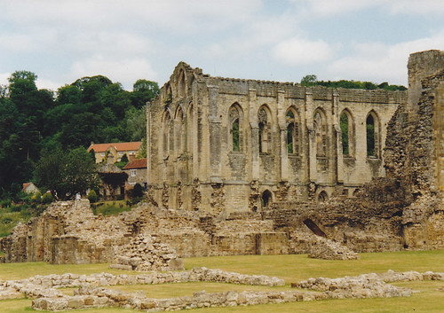 Rievaulx Abbey from the main York to Scarborough Road