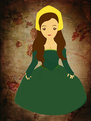 Anne Boleyn (tanlui) Tags: green girl other dress henry ann wife viii vector eigth beheaded tudors boleyn