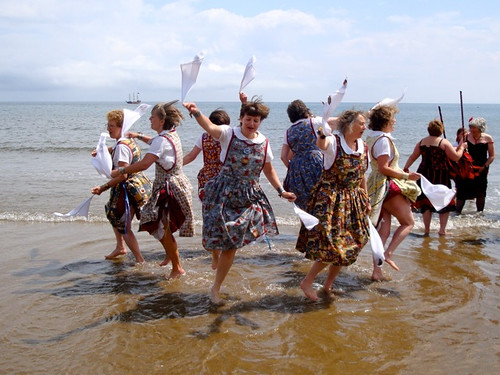 Belfagan dance in the sea