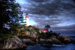 042910 Lighthouse Park 6666 HDR (Kyle Bailey - Da Big Cheeze) Tags: ocean park sunset sea lighthouse inspiration water vancouver clouds canon coast marine hiking professional example inspire vancouverbc hdr highdynamicrange westvancouver critique kylebailey rookiephoto dabigcheeze wwwrookiephotocom