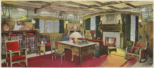 A Living Room in the Style of the Modern English School