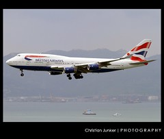 Boeing | 747-436 | British Airways | G-BYGA | Hong Kong | HKG | VHHH (Christian Junker | PHOTOGRAPHY) Tags: china plane canon hongkong eos airport asia aviation landing airline 7d ba boeing heavy britishairways hkg 100400mm sar jumbo b747 clk baw planespotting oneworld cheklapkok hkia b747400 1190 b744 hongkonginternationalairport vhhh ba25 25r wwwairlinersnet gbyga b747436 28855 speedbird25 288551190 baw25
