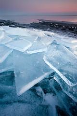 Brighton Beach 2-25-09 (Shawn Thompson - Lake Superior Photographer) Tags: pink blue winter lighthouse ice landscapes purple brokenglass north shore northshore canon5d brightonbeach 1740mm duluthmn duluthphotographer lakesuperiorphotographershawnthompson