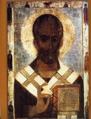 029-San Nicolás con los miembros electos de los santos- siglo XII