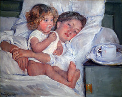 Cassatt, Breakfast In Bed