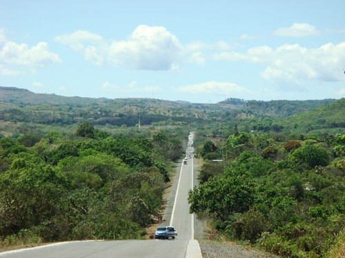 Typical cycling along the Panam Hwy in Panama.