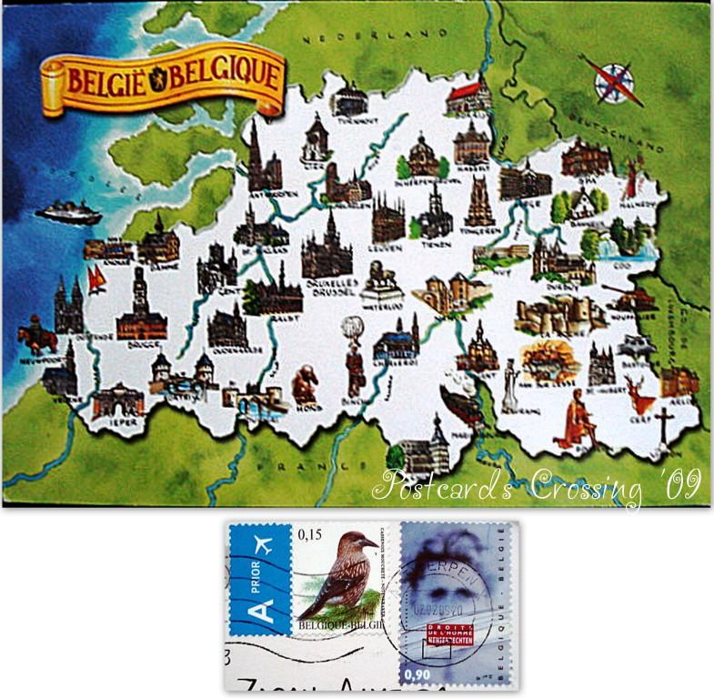 Mapcard - Belgium