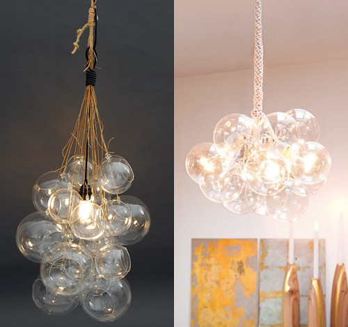 Diy globe cluster lamps door sixteen clusters lamps are hugely common right now even pottery barn has a versionand wouldnt it look so much better without the stupid ceiling brackets aloadofball Choice Image