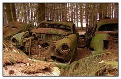 10 (jluk) Tags: abandonnedcars oxydation rust urbex belgium chatillon cimetary oldcars rouille mousse vieillevoiture epave
