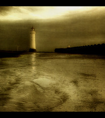 Time..Tide & the light of the Moon. (jetbluestone) Tags: lighthouse texture sand time tide newbrighton perchrock