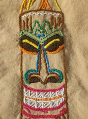 Tiki Shirt Close up Tiki (anyakase1) Tags: shirt hula tiki shag handembroidery tattoohandembroidery