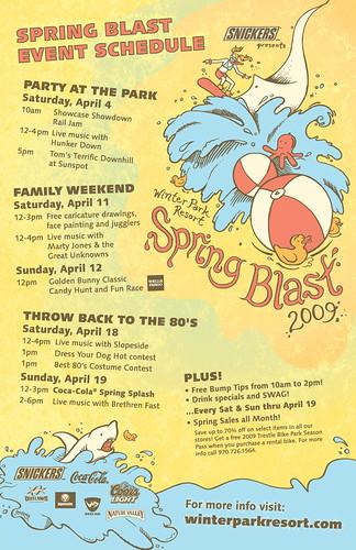 Winter Park Spring Blast Poster