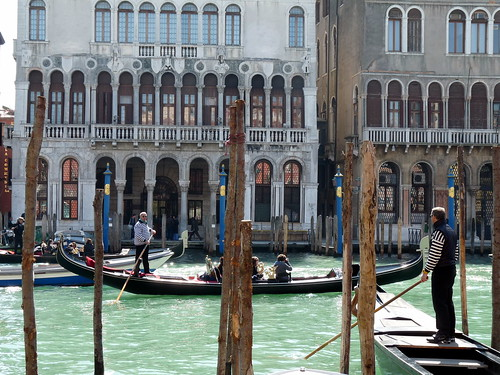 Gondola crossing [Venice]