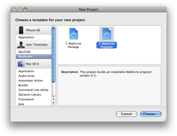 Xcode project templates