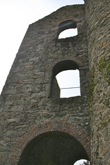 Arches and stack side of Baronet's engine house. (john durrant) Tags: uk chimney brick cornwall arches stack granite coppermine tinmine redruth kernow quoins whealamelia pennanceconsols carnmarth baronetsenginehouse