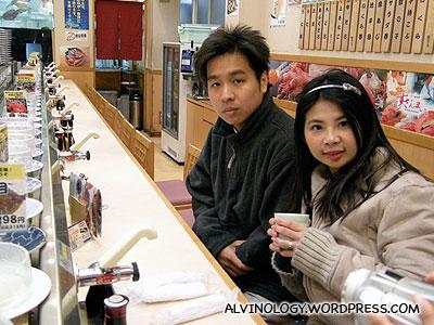 Mark and Meiyen waiting for their sushi