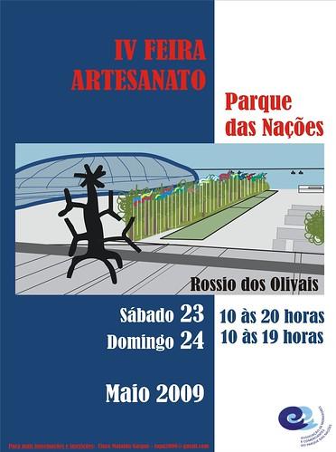 Cartaz IV Feira de Artesanato Parque das Nações por mafraldinhas.