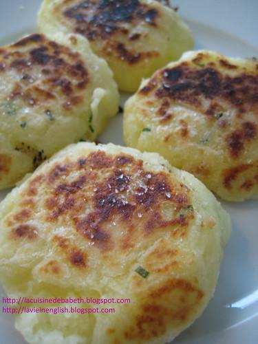 Galette de purée / Mashed potatoes burger style