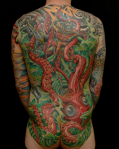 Amazing Back Body Tattoo
