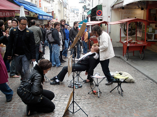 A fallen tourist in Paris?