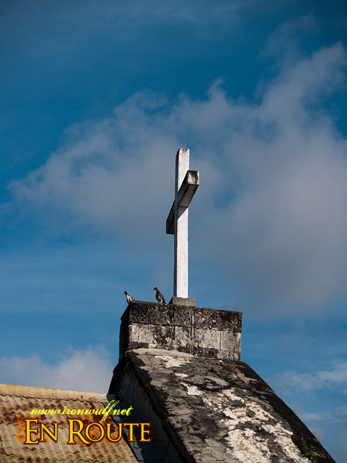 Siquijor Sta Maria Church Cross and Doves