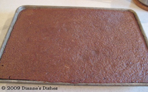 Chocolate Sheet Cake: Ready to Ice