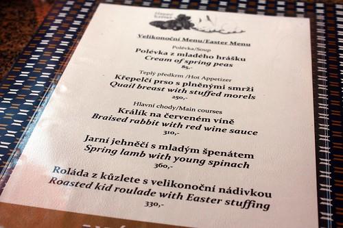 Velikonocni menu