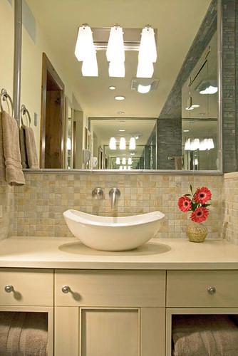 Bathroom Countertops & Vanities by CaesarStone - 2200 Desert Limestone