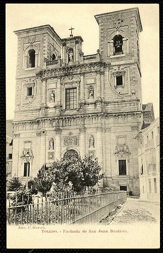 Plaza del Padre Juan de Mariana (Toledo) a principios del siglo XX. Fotografía Garcés