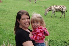 Catie & me with the zebra