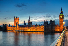 Another Big Ben Sunset (Philipp Klinger Photography) Tags: road street uk bridge blue houses light sunset england sky color reflection london clock water westminster thames river big time ben britain united great illumination kingdom parliament