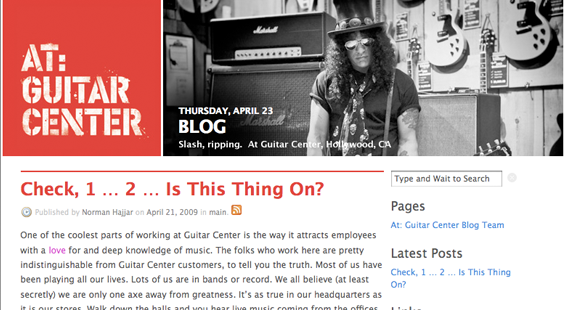 Guitar Center Blog
