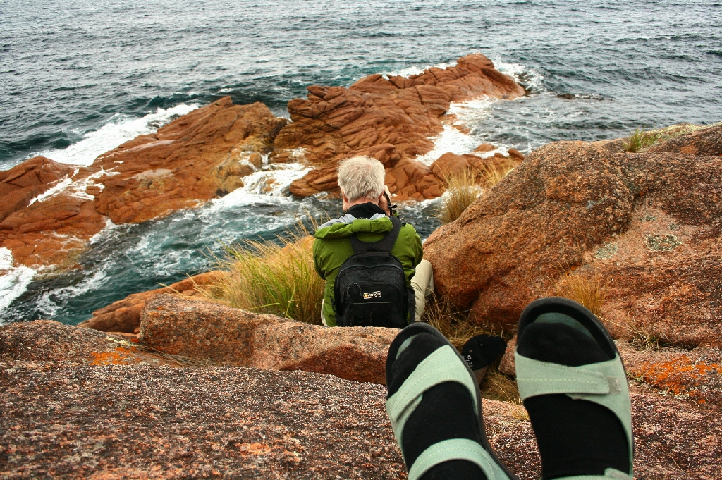 Photo Shoot on the Rocks in Tasmania