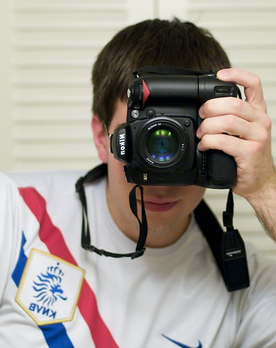 Self-Portrait - D90 with Phottix Battery Grip