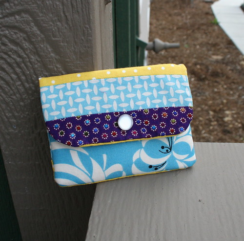 Patchwork Zippy Card Wallet