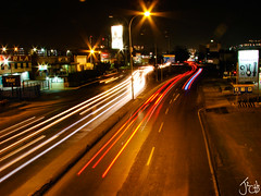 Av. Intercomunal (musicaymas [Javier Chaurn]) Tags: ocean longexposure light sunset sea reflection luces mar calle waves venezuela atardeceres olas reflejos largaexposicin parquedediversiones anzotegui lechera internationalflickrawards