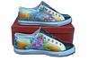 Airbrush Sneaker Tattoo Koi & Roses customized