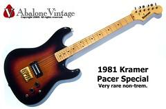 Vintage 1981 Kramer Pacer guitar in EXTREMELY rare non-trem. (eric_ernest) Tags: music vintage guitar sale columbia musical instrument 1981 rare kramer pacer extremely guitarcenter nontrem