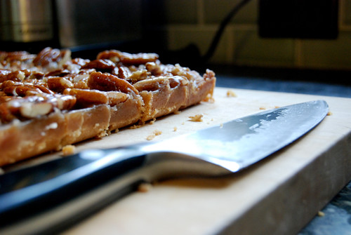 Pecan Bars, Sliced