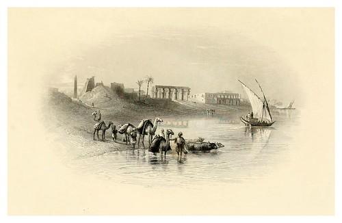 032-Luxor desde el rio-Bartlett, W. H. 1849