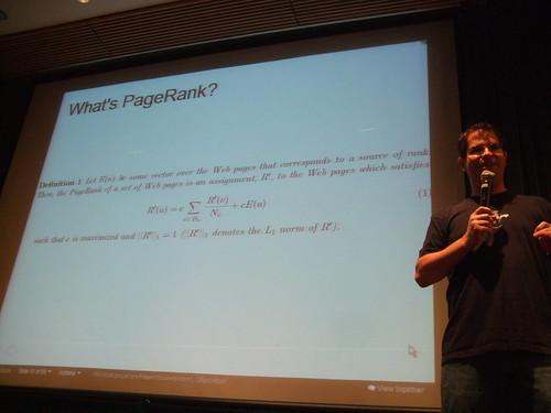 The secret, actual PageRank formula.