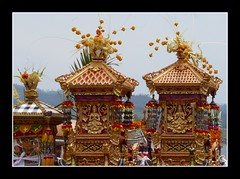 Ornate Temples (scinta1) Tags: bali lake indonesia temple village ceremony holy handpainted offering tradition ornate hindu lakebatur danaubatur balinese banjar kintamani bangli handcarved upacara kedisan