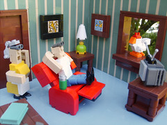 02 Blockheads (S.L.Y) Tags: wallpaper window lamp ma tv lego mini pa recliner lazyboy blockhead miniland